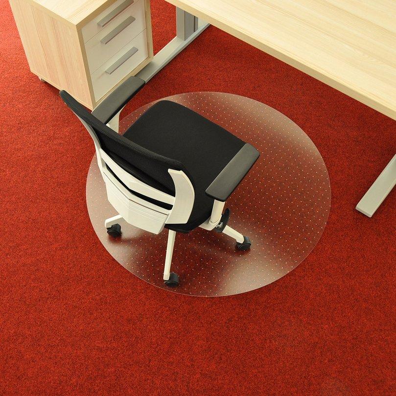 Čirá podložka pod židli na koberec - délka 120 cm, šířka 120 cm a výška 0,3 cm