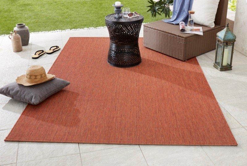 Oranžový kusový koberec Meadow