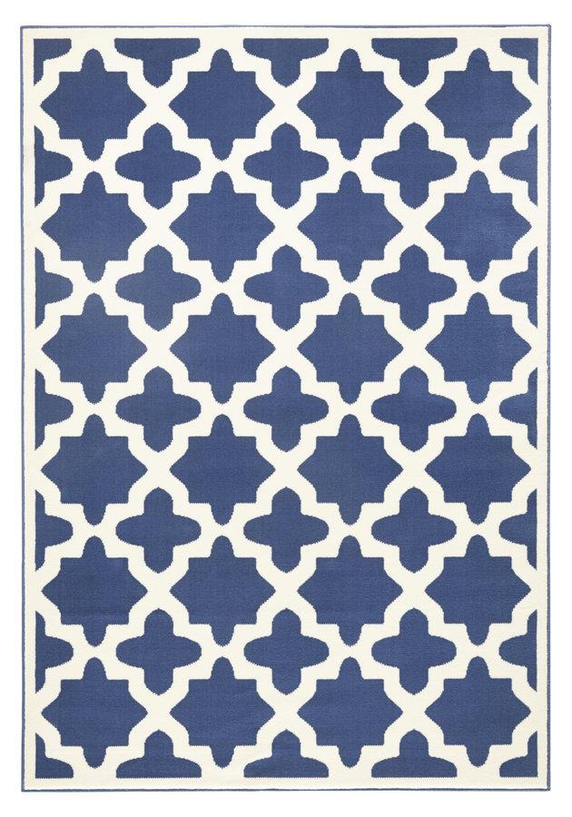 Modrý kusový moderní koberec Capri