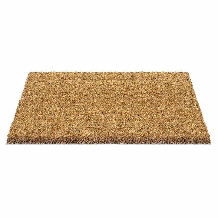 Kokosová čistící metrážová vstupní rohož FLOMA Rucco - délka 1 cm, šířka 120 cm a výška 1,7 cm