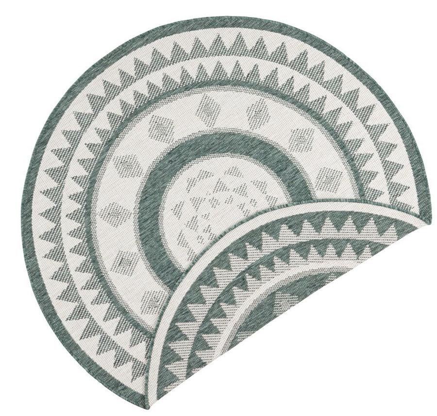 Zelený oboustranný moderní kulatý koberec Jamaica, Twin-Supreme - průměr 200 cm