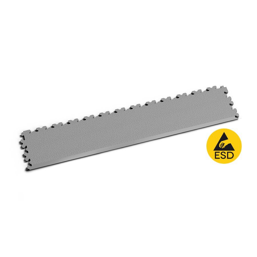 Šedý vinylový nájezd Fortelock XL ESD 2235 (hadí kůže) - délka 65,3 cm, šířka 14,5 cm a výška 0,4 cm
