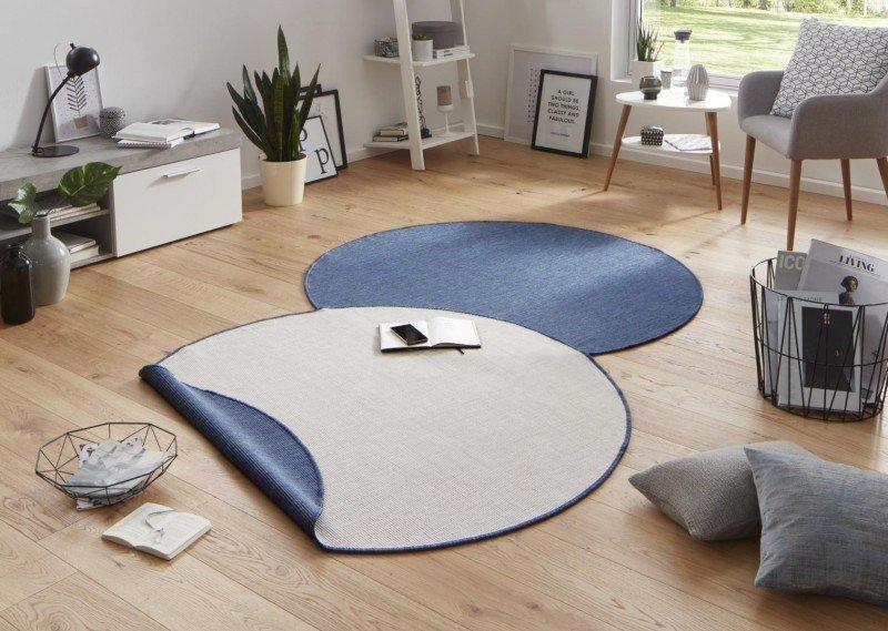 Různobarevný oboustranný kusový kulatý koberec Twin-Wendeteppiche - průměr 200 cm