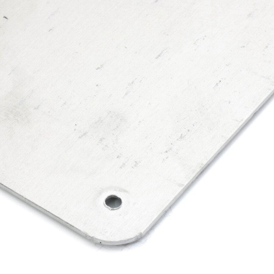 Žlutý hliníkový protiskluzový nášlap na schody FLOMA Bolt Down Plate - délka 63,5 cm, šířka 12 cm, výška 4,5 cm a tloušťka 1,6 mm