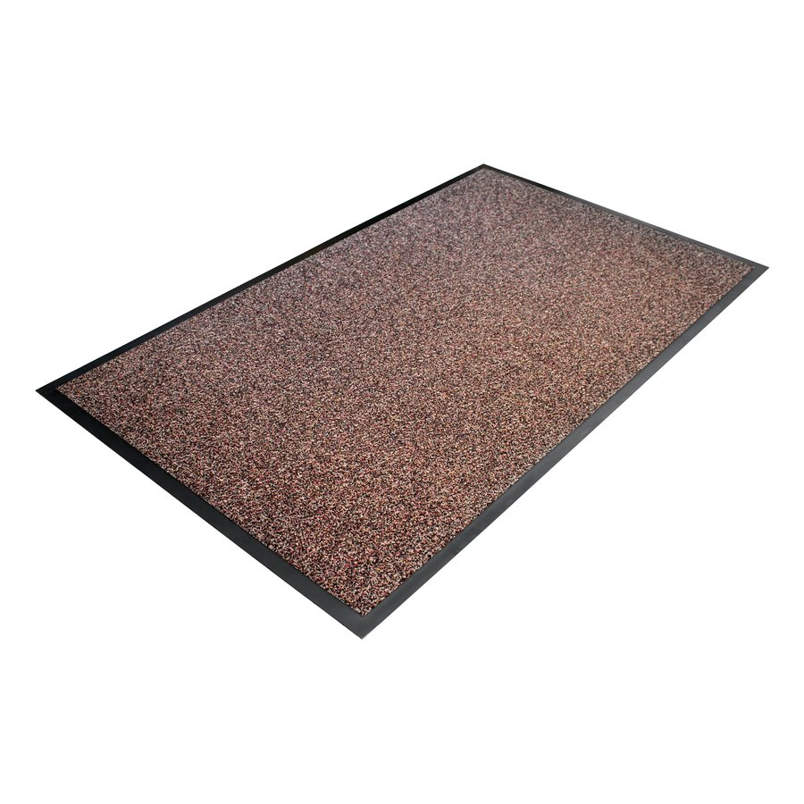 Hnědá textilní vstupní vnitřní čistící rohož - délka 90 cm, šířka 150 cm a výška 1 cm