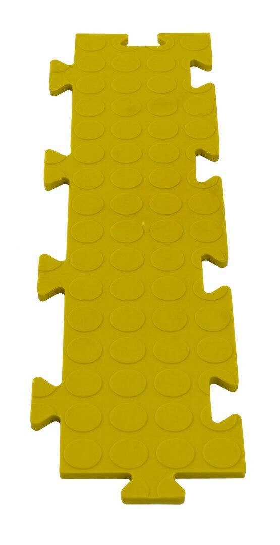 Žlutá PVC vinylová zátěžová puzzle protiskluzová spojovací dlaždice Tenax - délka 50 cm, šířka 12 cm a výška 0,8 cm