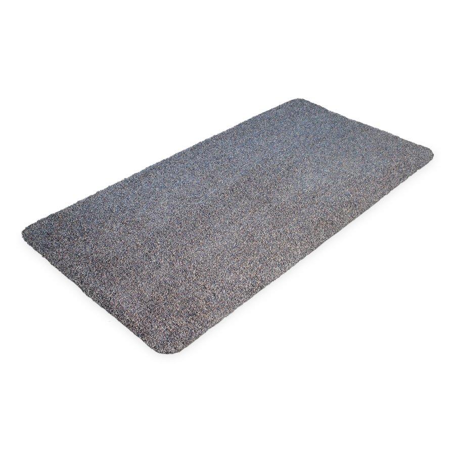 Modrá bavlněná vstupní vnitřní čistící rohož - délka 150 cm, šířka 75 cm a výška 0,4 cm