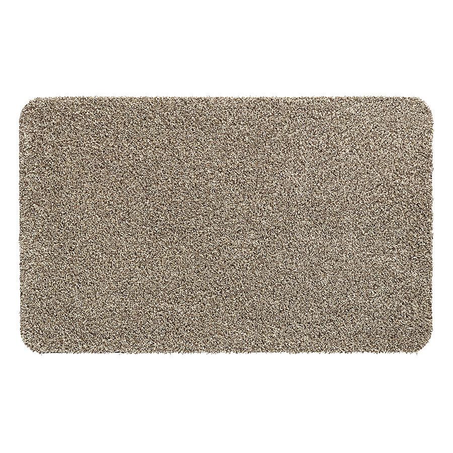 Béžová vnitřní vstupní čistící pratelná metrážová rohož Aqua Stop, FLOMA - délka 1 cm, šířka 200 cm a výška 0,6 cm