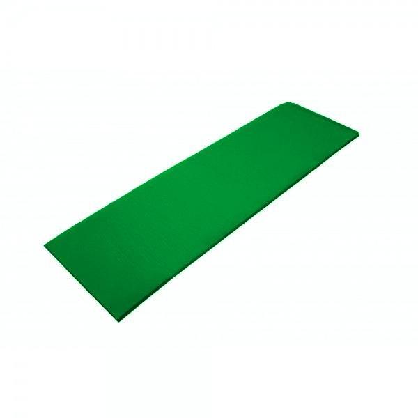 Zelená jednovrstvá pěnová karimatka - délka 180 cm, šířka 50 cm a výška 0,7 cm