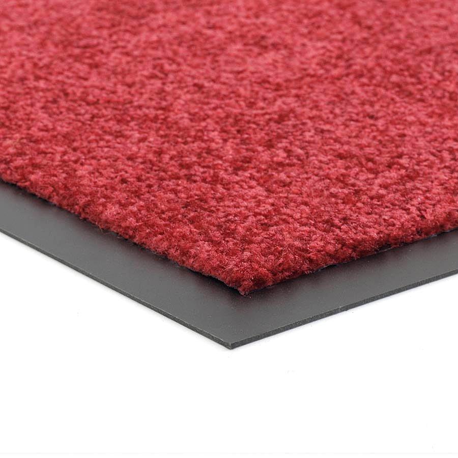 Červená metrážová čistící vnitřní vstupní pratelná rohož (lem - 2 strany) Twister, FLOMA - délka 1 cm a výška 0,8 cm