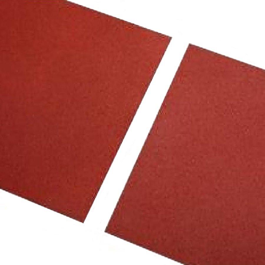 Červená gumová hladká dlaždice FLOMA - délka 100 cm, šířka 100 cm a výška 1,5 cm