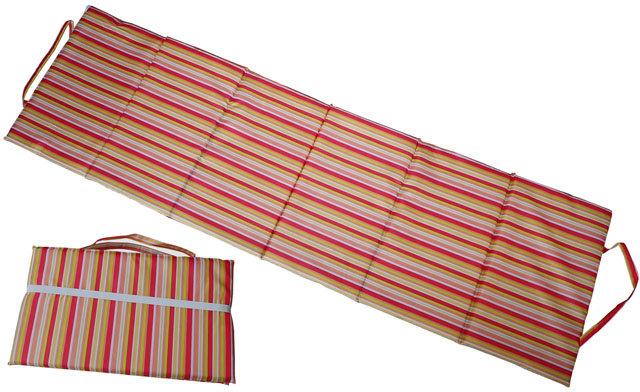 Modré skládací plážové lehátko - délka 195 cm, šířka 55 cm a výška 1,5 cm