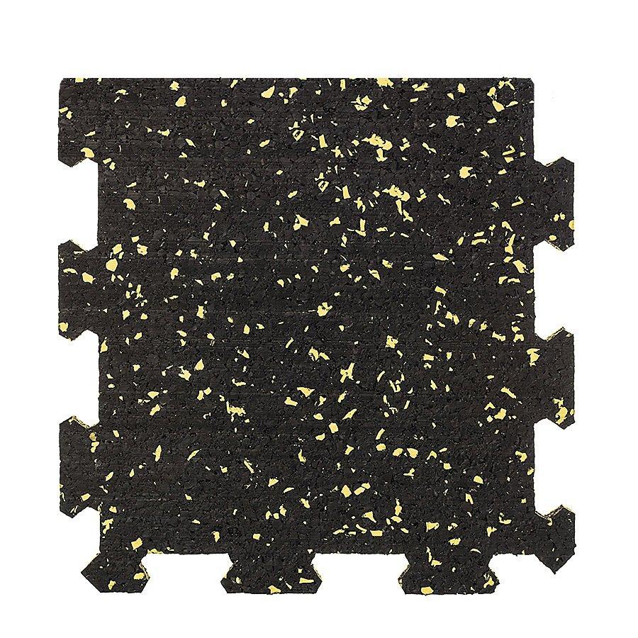 Různobarevná pryžová (10% EPDM PREMIUM) modulární fitness deska (okraj) SF1050 - délka 95,6 cm, šířka 95,6 cm a výška 1 cm