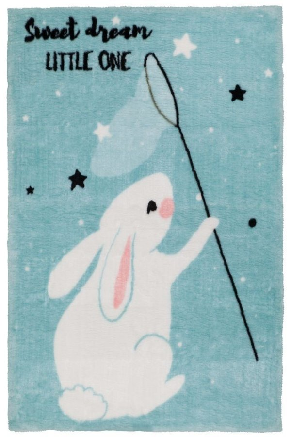Modrý kusový dětský koberec Lollipop - délka 170 cm a šířka 120 cm