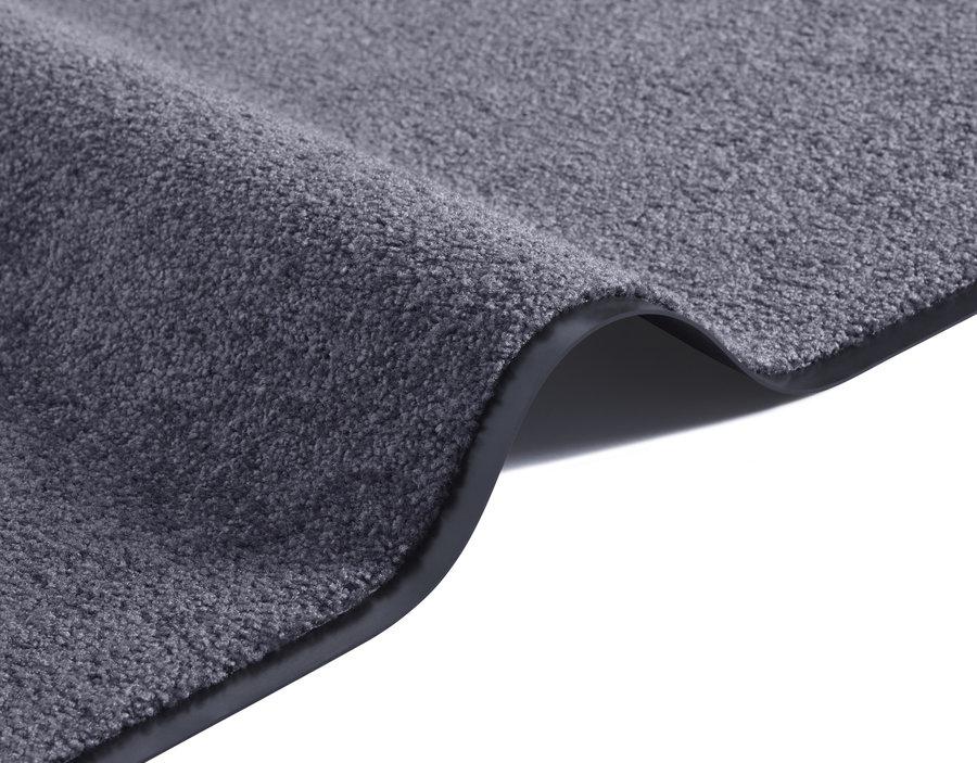 Šedý kusový koberec Wash & Clean - délka 90 cm a šířka 60 cm