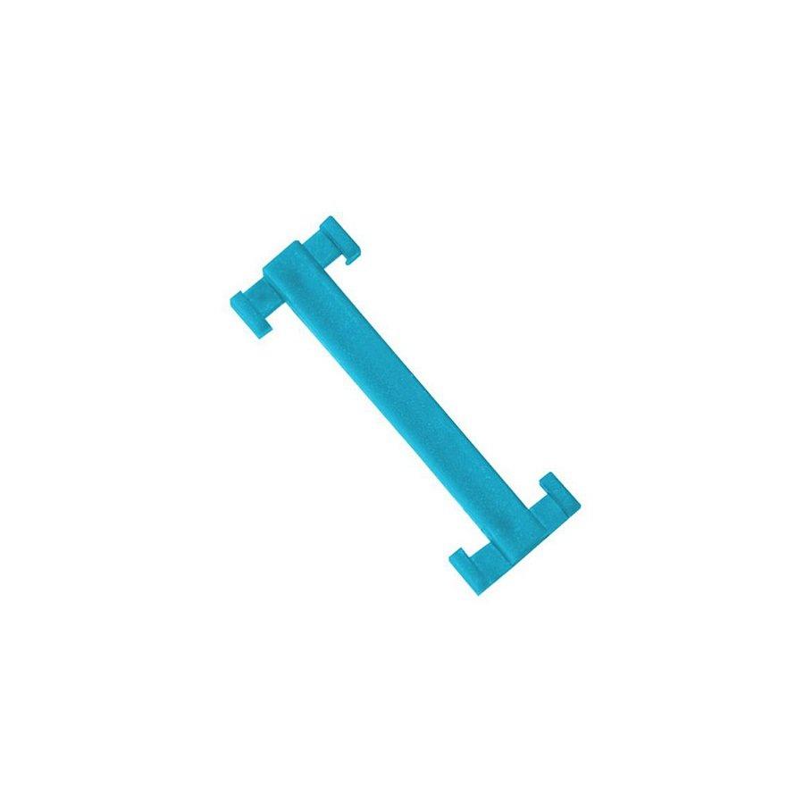 Modrá plastová spojka pro rohože Soft-Step - délka 4,5 cm a šířka 1,5 cm - 10 ks