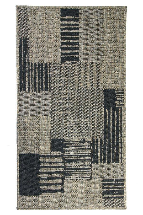 Šedý kusový koberec Sisalo - délka 190 cm a šířka 133 cm