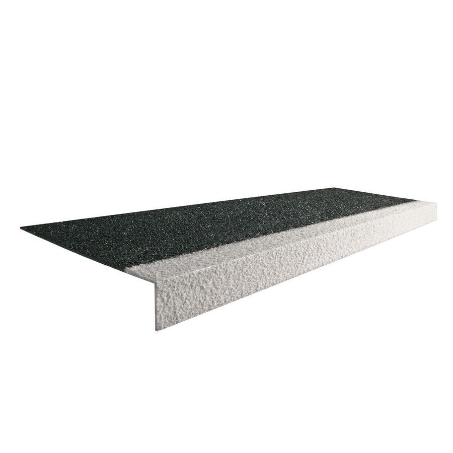 Černo-bílá karborundová schodová hrana - šířka 34,5 cm, výška 5,5 cm a tloušťka 0,5 cm