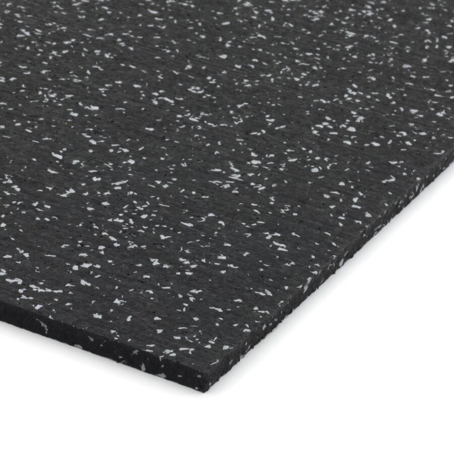 Černo-šedá gumová dlažba (deska) FLOMA IceFlo SF1100 - délka 198 cm, šířka 98 cm a výška 0,8 cm