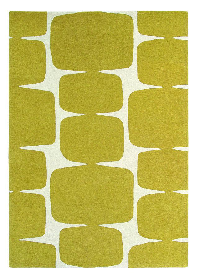 Žlutý kusový moderní koberec Lohko