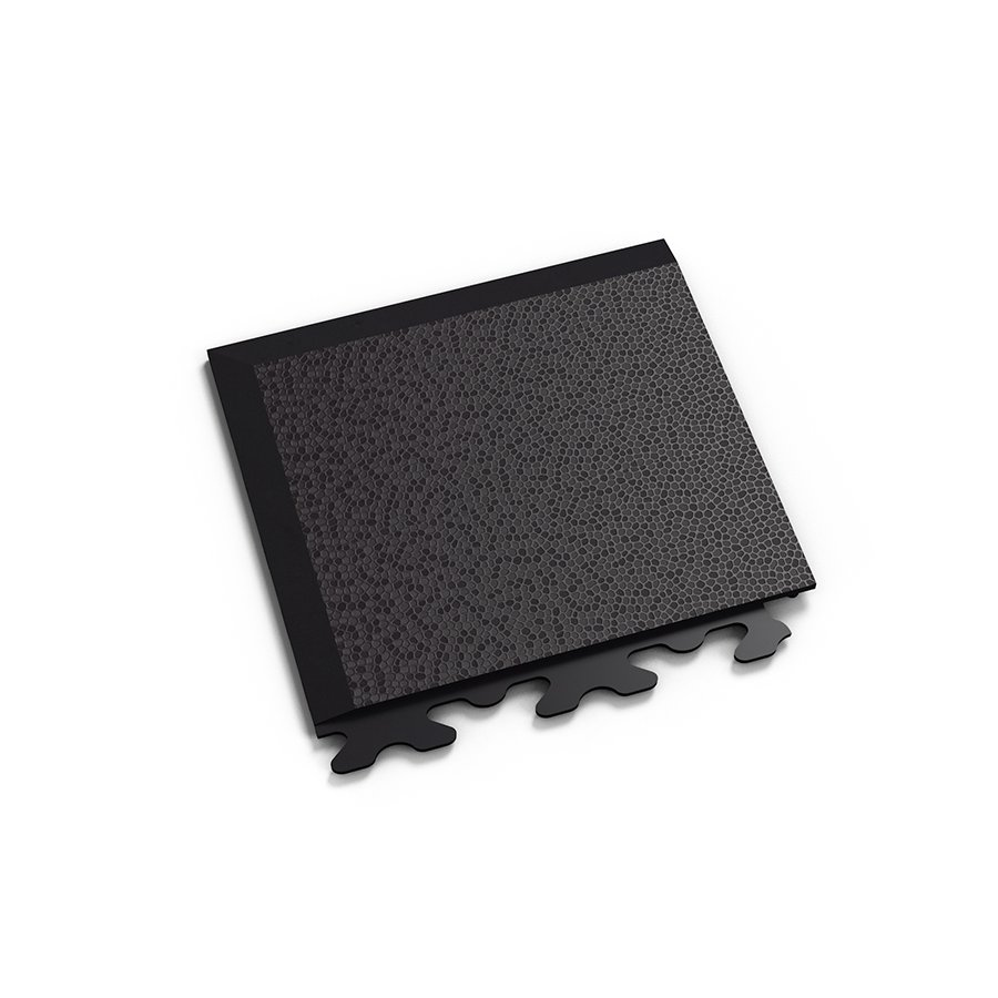 "Černý vinylový plastový rohový nájezd ""typ A"" Invisible Eco 2036 (hadí kůže), Fortelock - délka 14,5 cm, šířka 14,5 cm a výška 0,67 cm"