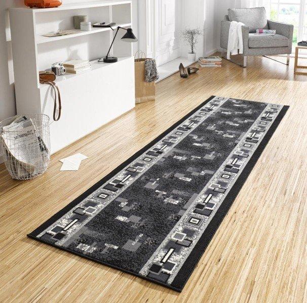 Černý moderní kusový koberec Basic - délka 500 cm a šířka 80 cm