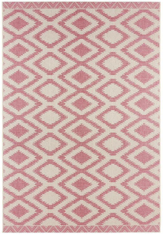 Růžový moderní kusový koberec Botany - délka 280 cm a šířka 180 cm