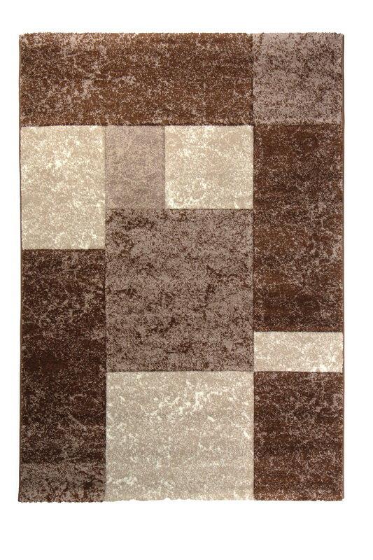 Hnědý kusový moderní koberec Hawaii