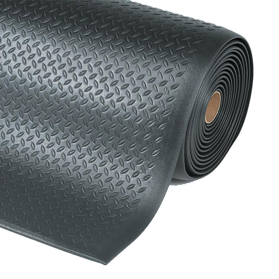 Černá protiúnavová průmyslová rohož Diamond, Sof-Tred - výška 1,27 cm