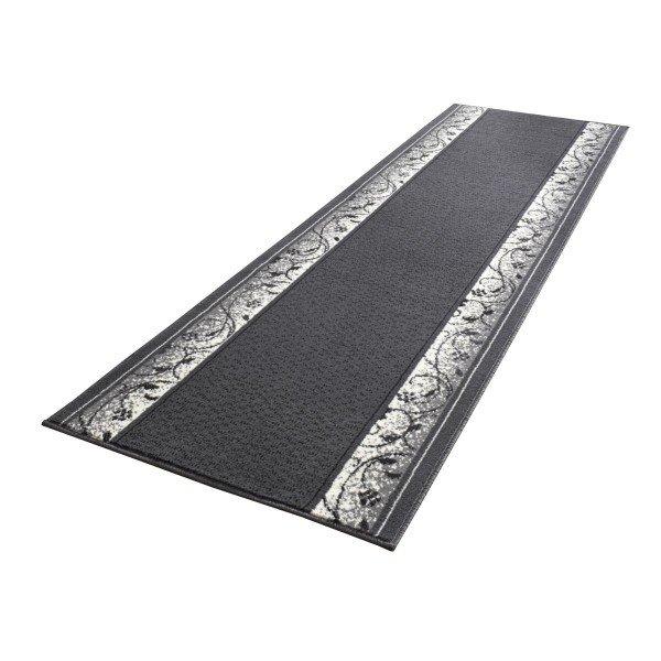 Černý moderní kusový koberec Basic - délka 450 cm a šířka 80 cm