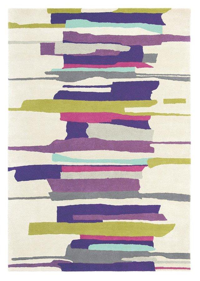 Různobarevný kusový moderní koberec Zeal