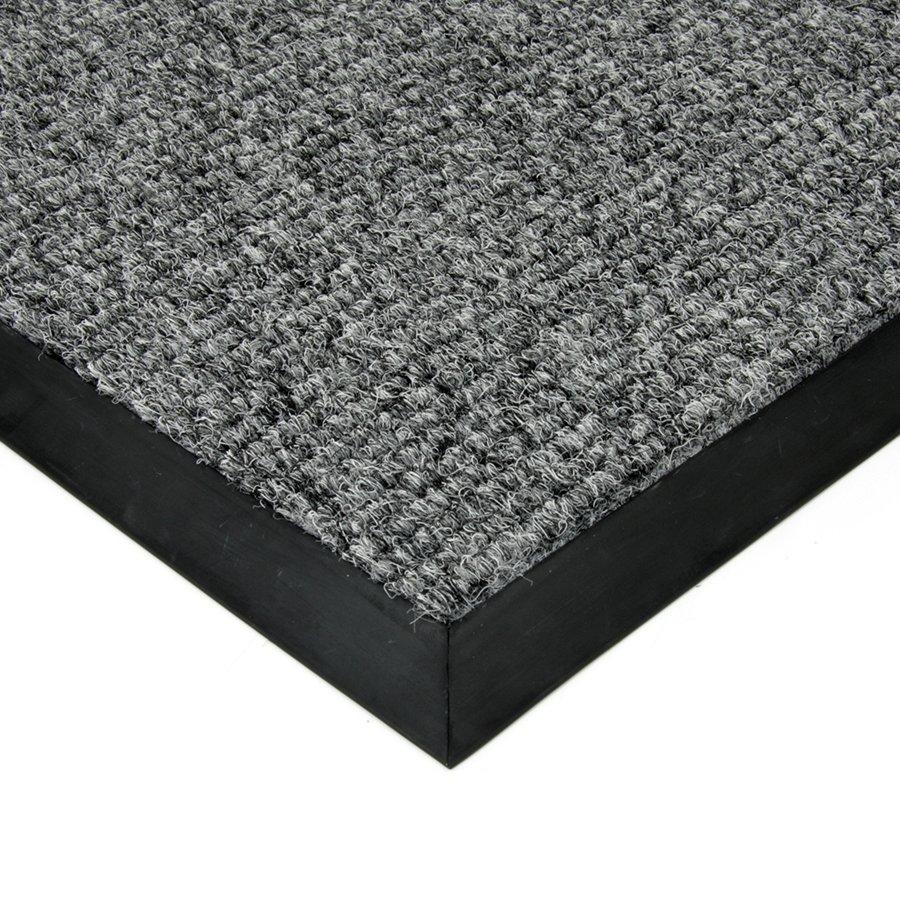 Šedá textilní zátěžová čistící vnitřní vstupní rohož FLOMA Catrine - výška 1,35 cm