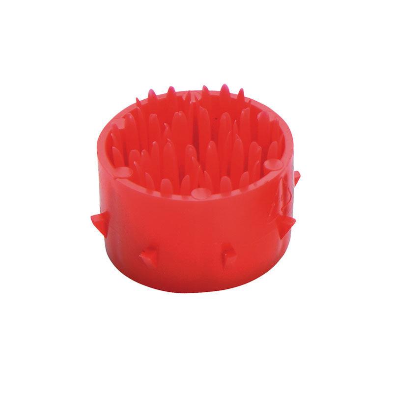 Červený plastový čistící kartáček pro rohože Octomat, Octomat Elite