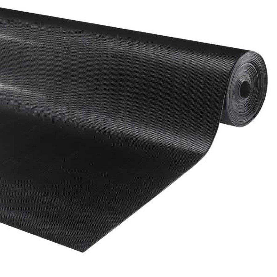Černá protiskluzová průmyslová podlahová guma Alfa - délka 10 m a výška 0,3 cm