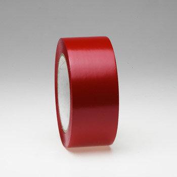 Červená podlahová vyznačovací páska - délka 33 m a šířka 5 cm