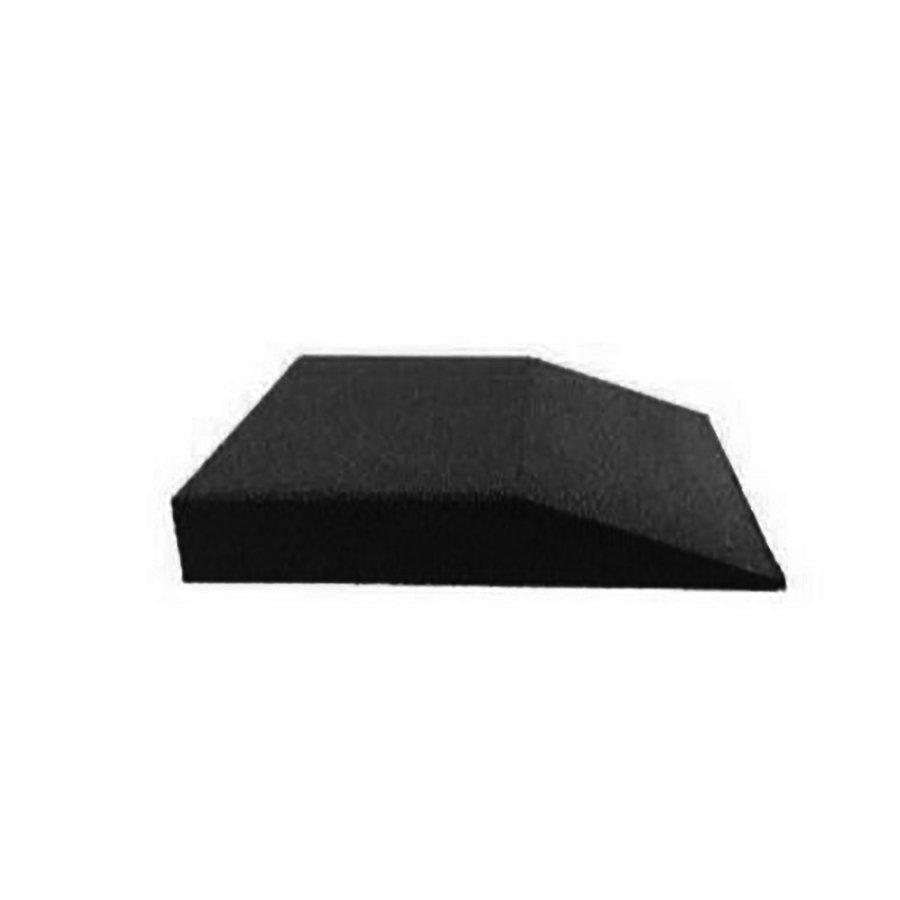 Černá gumová krajová dopadová dlaždice (V90/R00) FLOMA - délka 50 cm, šířka 50 cm a výška 9 cm