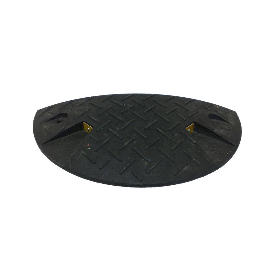 Černý plastový koncový zpomalovací práh - 20 km / hod
