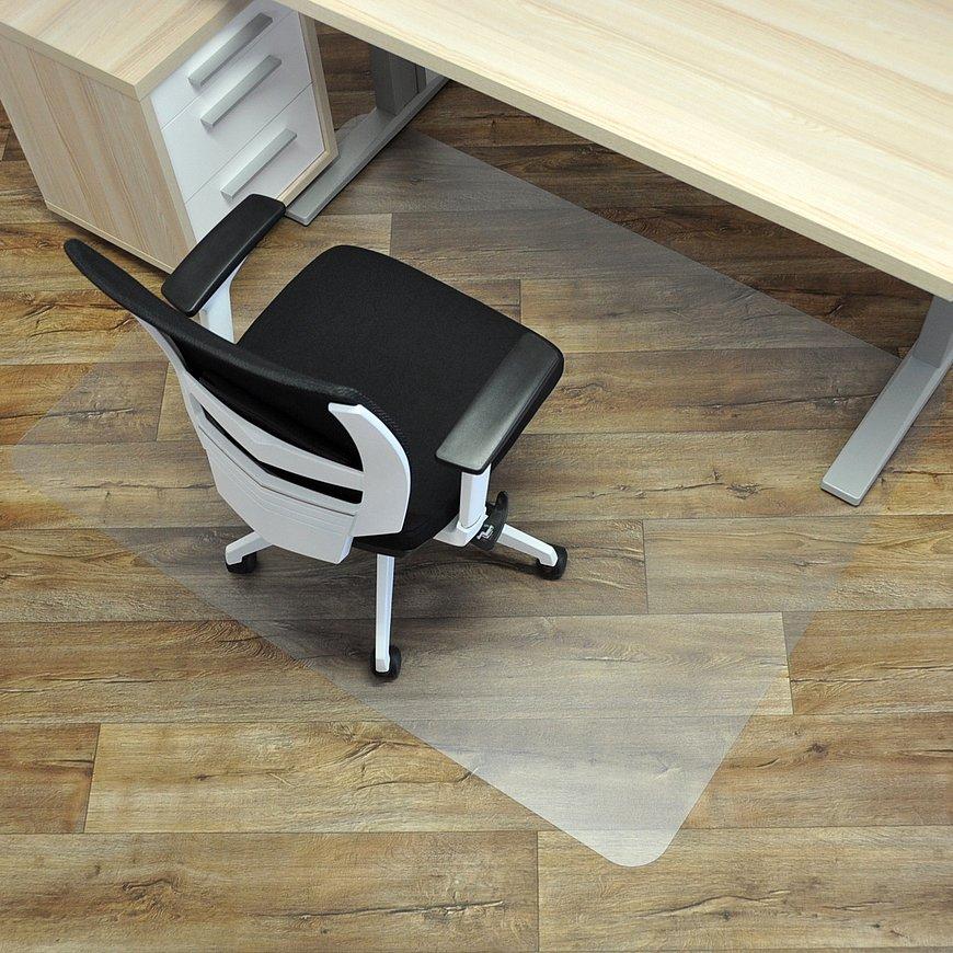 Čirá podložka pod židli na hladké povrchy 01 - délka 150 cm, šířka 120 cm a výška 0,15 cm