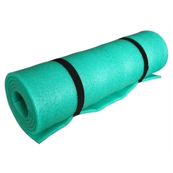 Zelená jednovrstvá pěnová karimatka - délka 185 cm, šířka 50 cm a výška 1 cm
