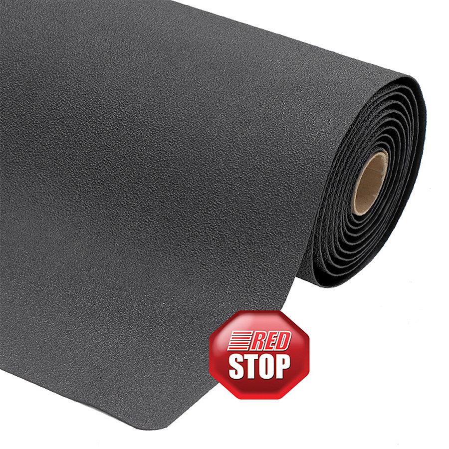 Černá protiúnavová průmyslová metrážová rohož pro svářeče Pebble Trax - délka 1 cm, šířka 60 cm a výška 1,27 cm