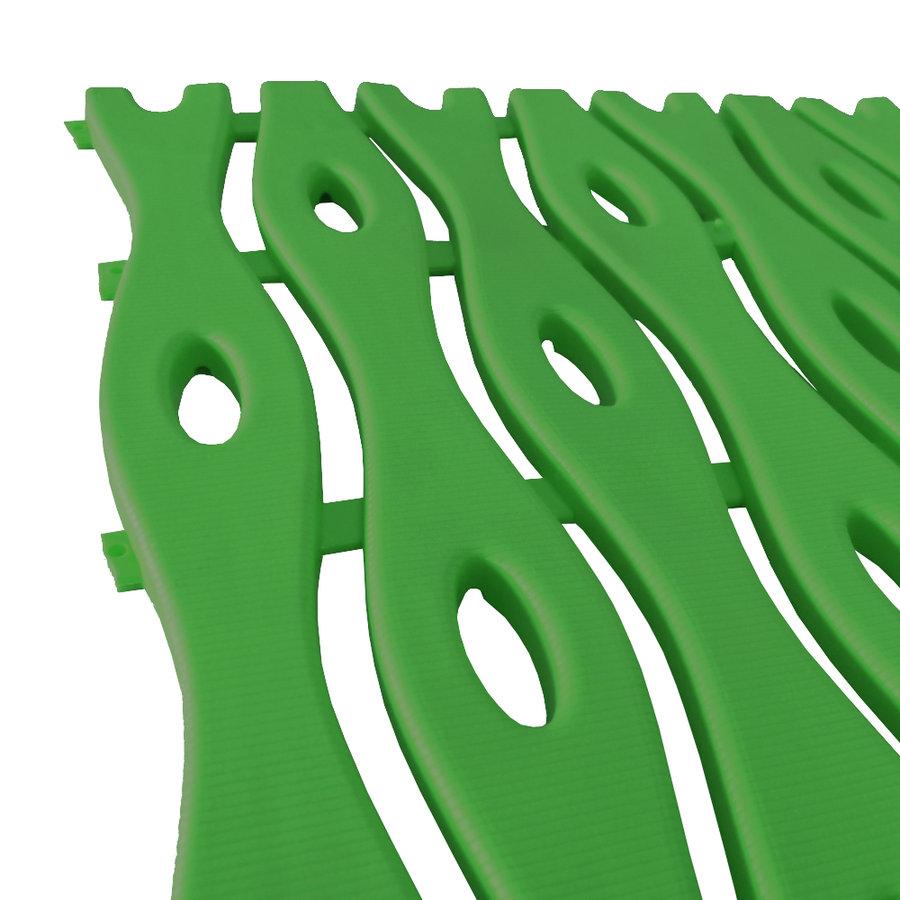 Zelená plastová bazénová rohož - délka 12 m, šířka 60 cm a výška 0,8 cm