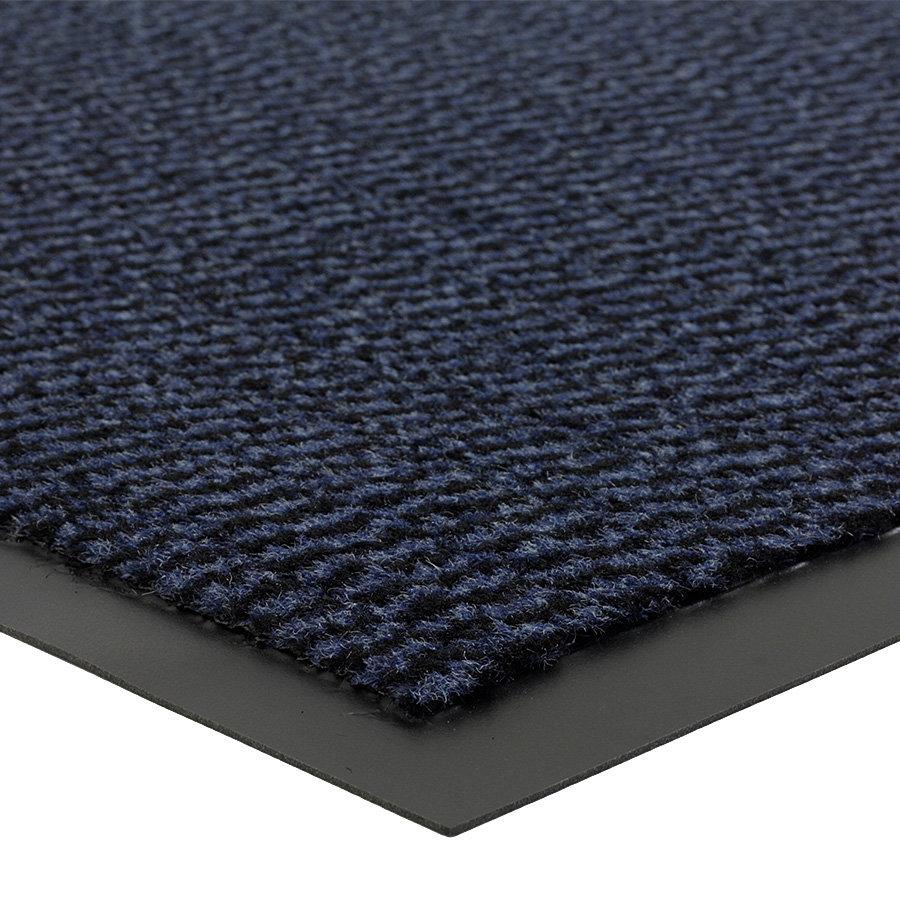 Modrá vnitřní vstupní čistící metrážová rohož (lem - 2 strany) Spectrum, FLOMA - délka 1 cm a výška 0,5 cm