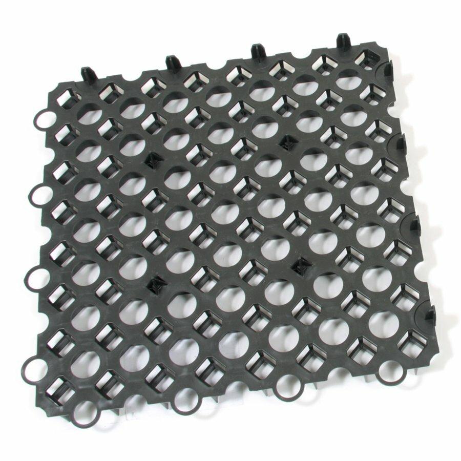 Černá plastová zatravňovací dlažba FLOMA Stella Green - délka 50 cm, šířka 50 cm a výška 4 cm