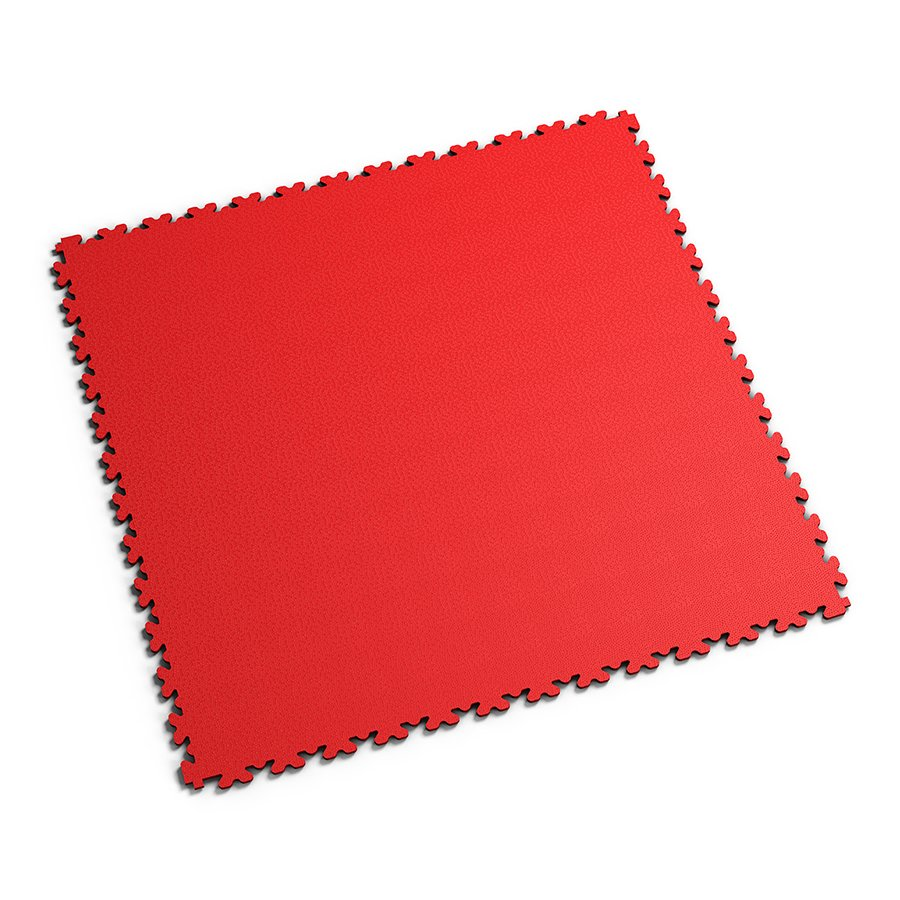 Červená PVC vinylová zátěžová dlažba Fortelock XL - délka 65,3 cm, šířka 65,3 cm a výška 0,4 cm