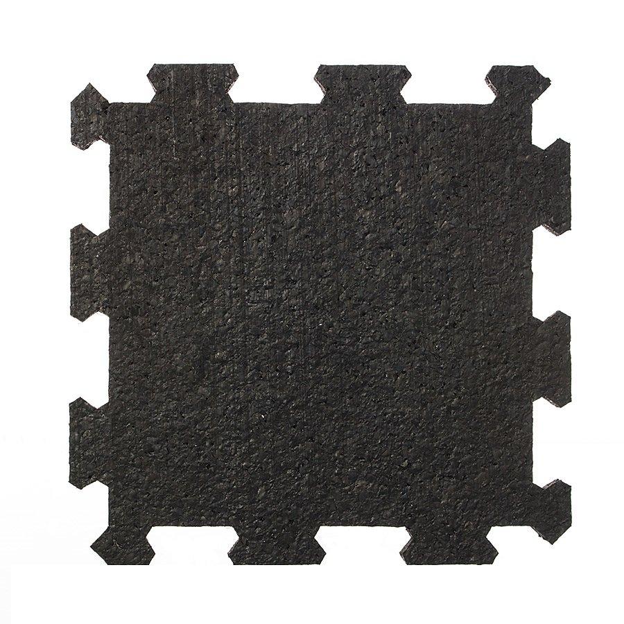 Černá pryžová modulární fitness deska (střed) SF1050, FLOMA - délka 95,6 cm, šířka 95,6 cm a výška 0,8 cm