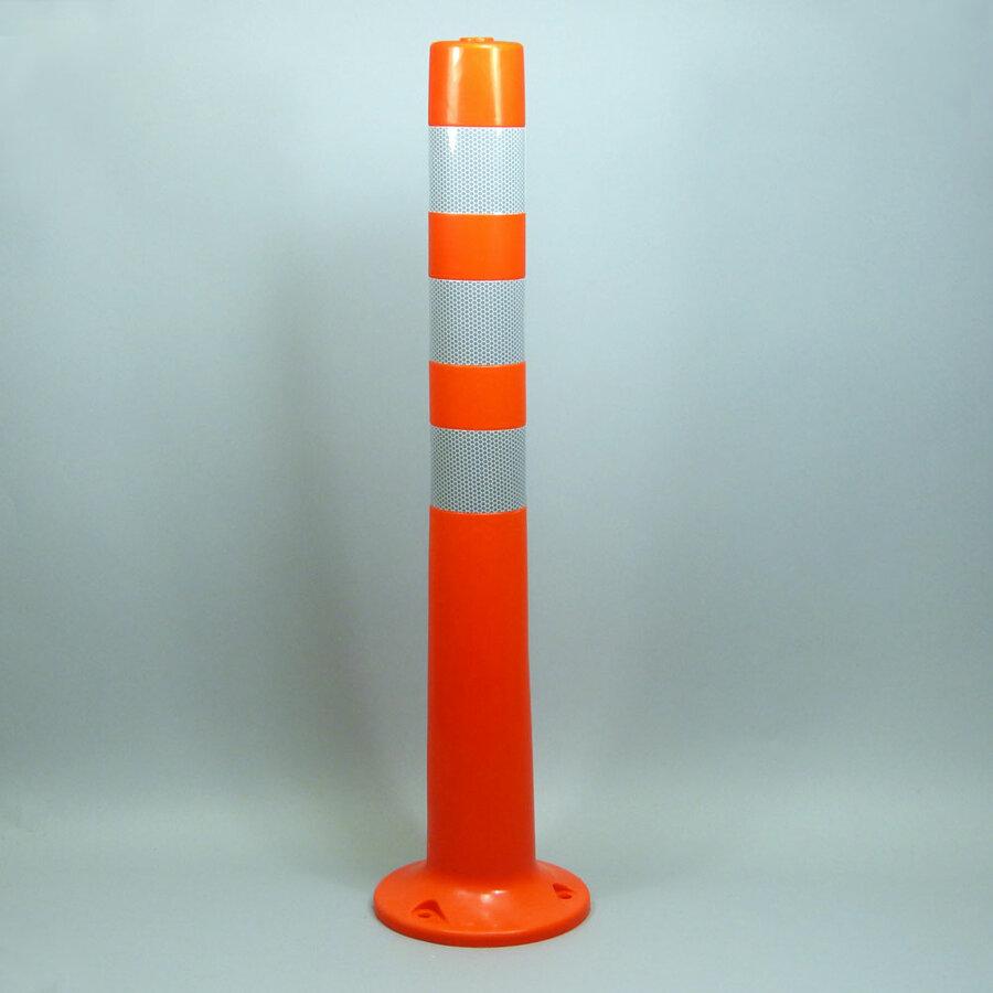 Oranžový reflexní samonarovnávací dopravní sloupek - průměr 8 cm a výška 80 cm