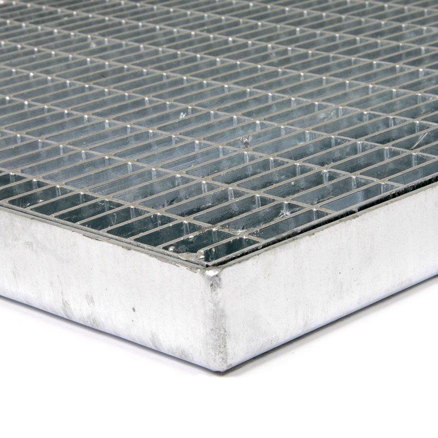 Kovová vstupní venkovní čistící rohož s rámem Grid, FLOMA - délka 40 cm, šířka 60 cm a výška 3,2 cm