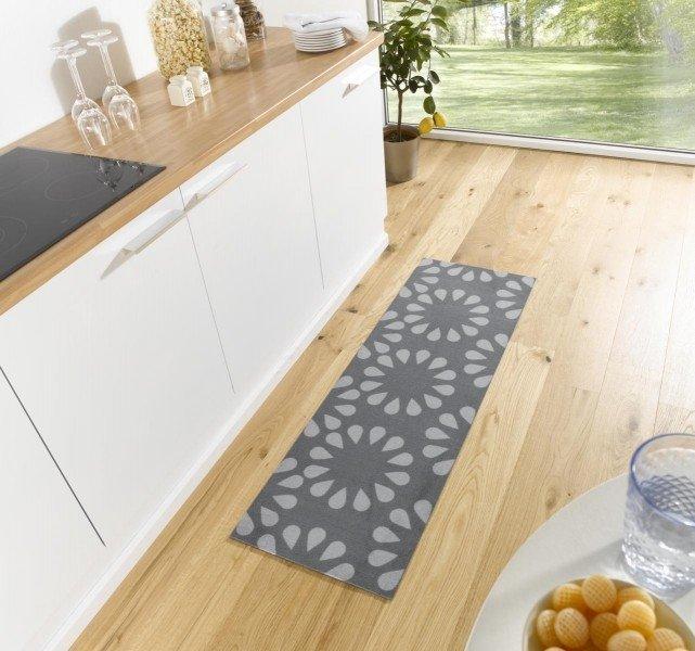 Šedý moderní kusový koberec Cook & Clean - délka 150 cm a šířka 50 cm