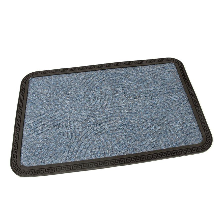 Modrá textilní vstupní venkovní čistící rohož Chaos, FLOMA - délka 40 cm, šířka 60 cm a výška 0,8 cm