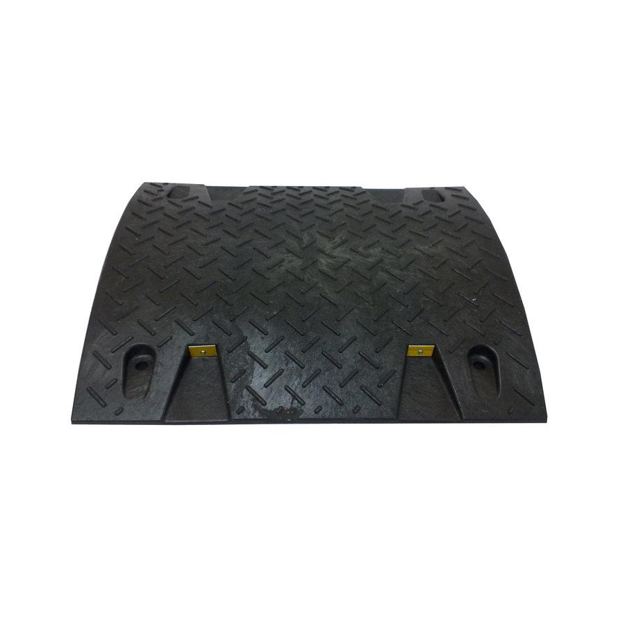 Černý plastový průběžný zpomalovací práh - 20 km / hod